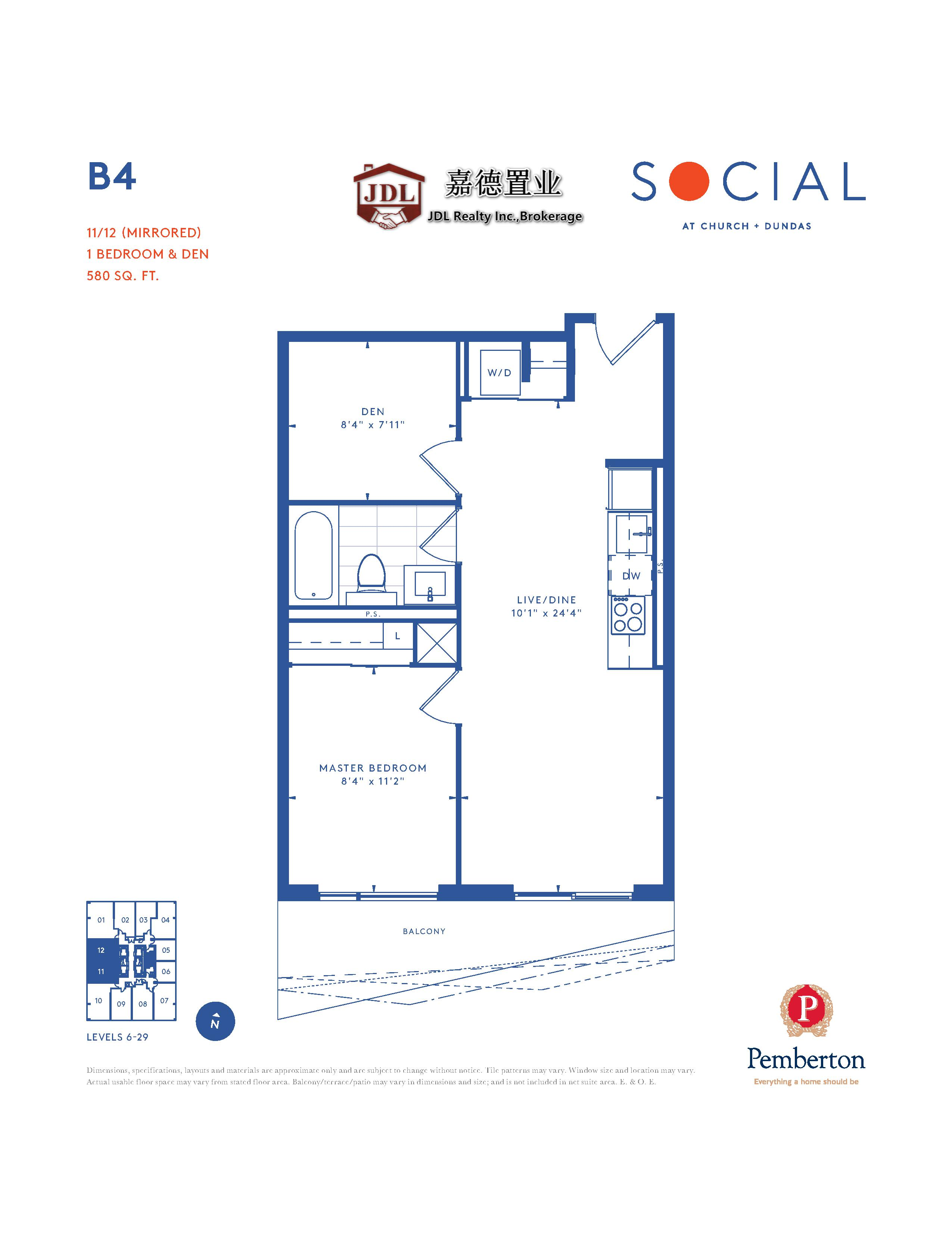 Social Tower floor plan 1 13
