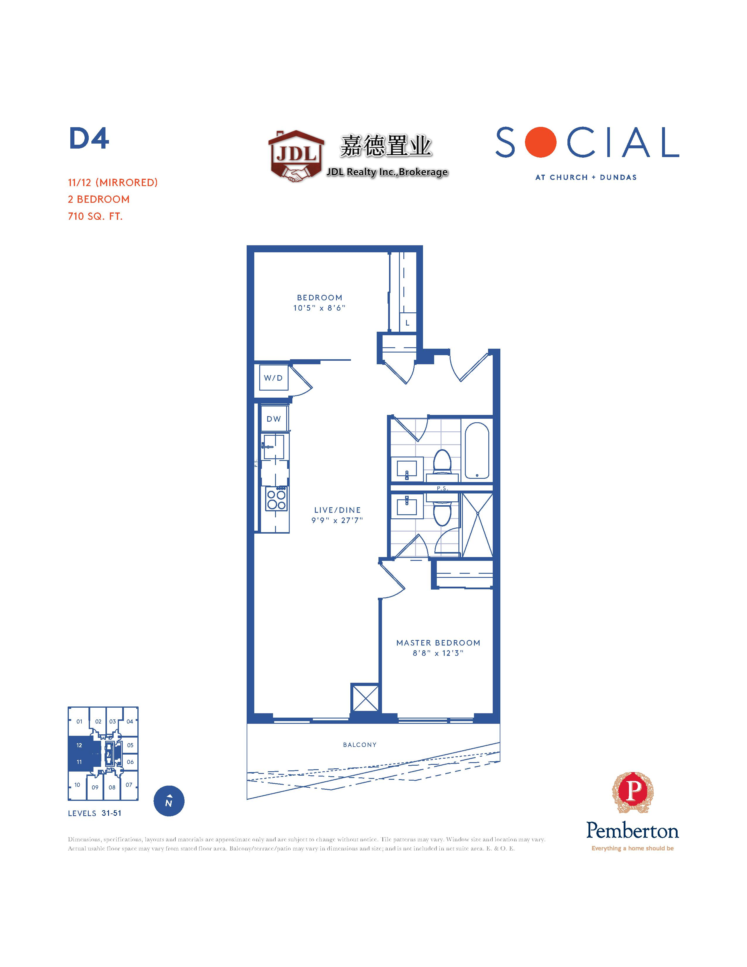 Social Tower floor plan 1 14