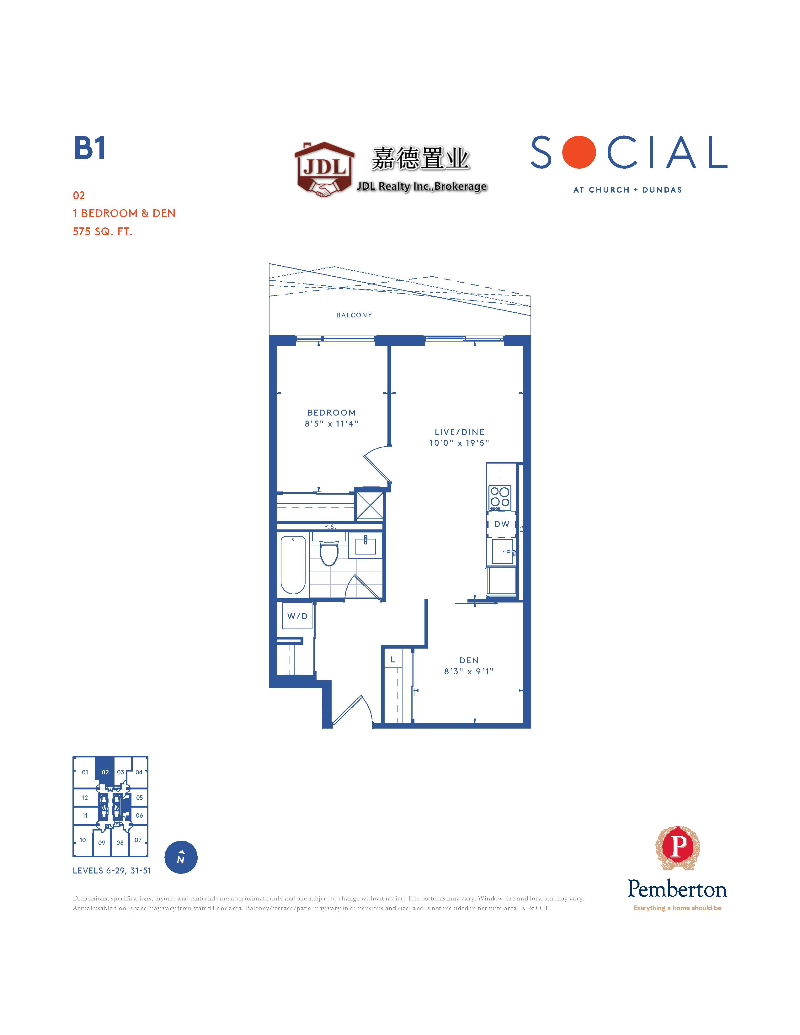 Social Tower floor plan 1 3