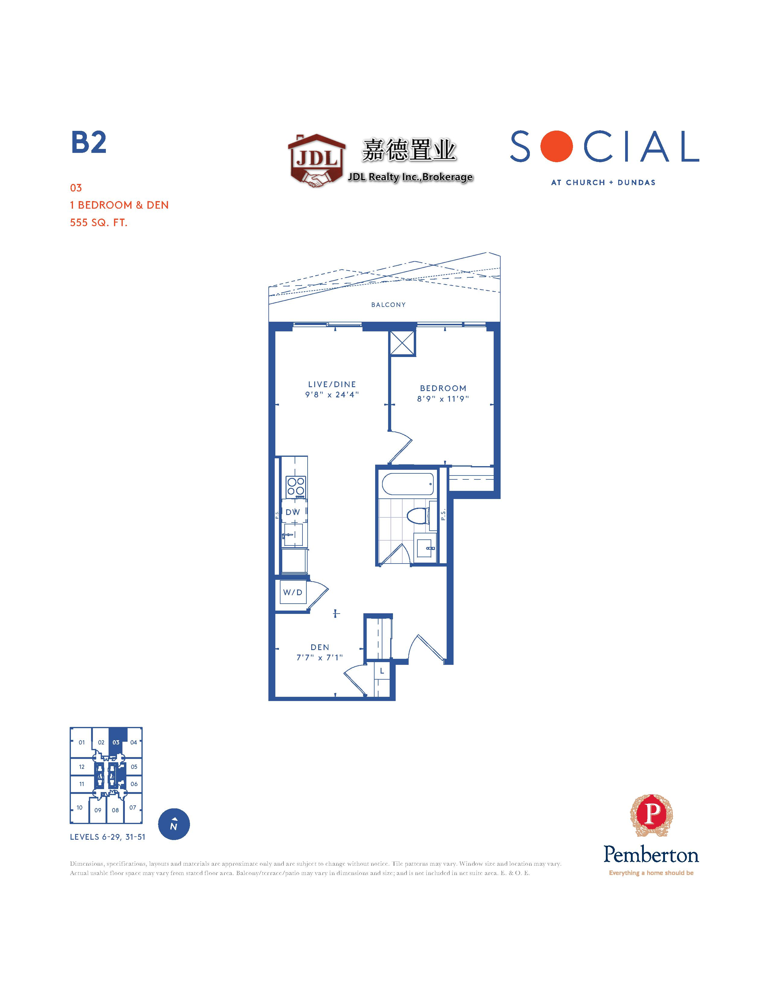 Social Tower floor plan 1 4