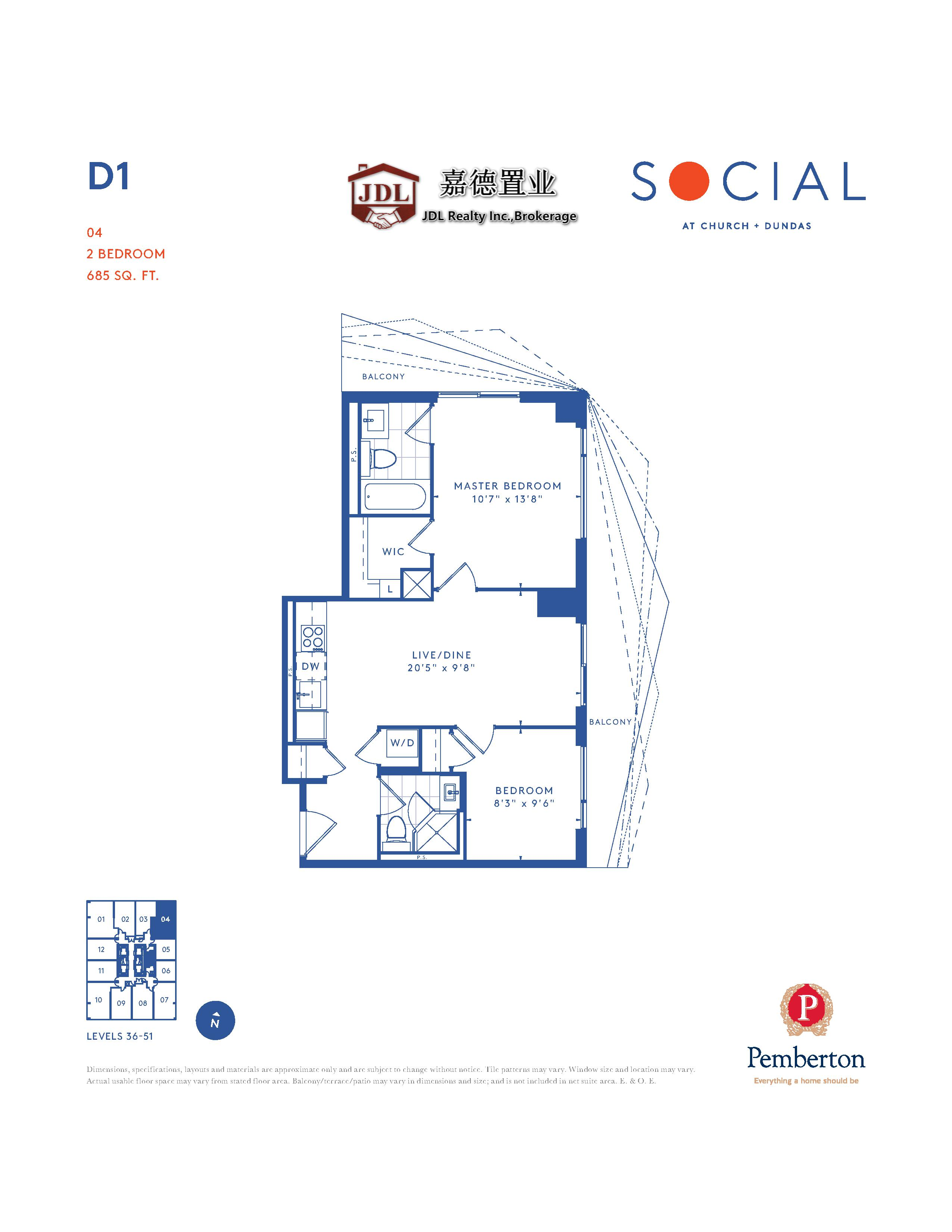 Social Tower floor plan 1 5