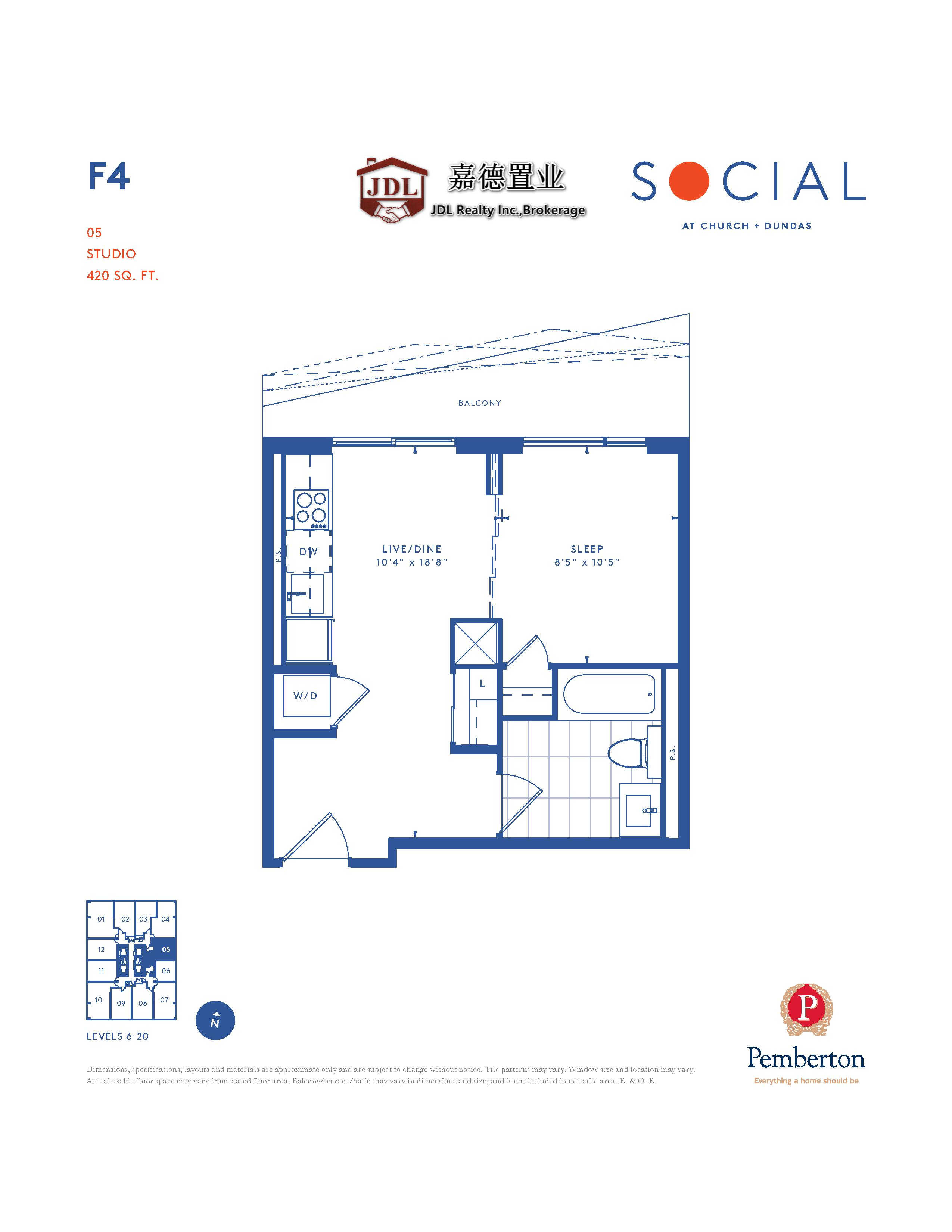 Social Tower floor plan 1 7